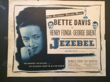 Jezebel  (1948) Film Poster Bette Davis Henry Fonda - US Half Sheet